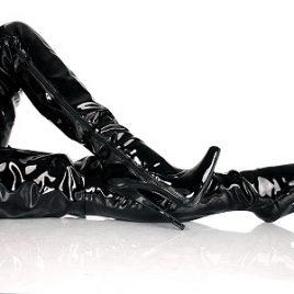 Lack Crotch Overknee High Heels Stiefel schwarz Kassiopeya Gr 36-46