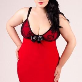 rot/schwarzes Kleid von Andalea Dessous