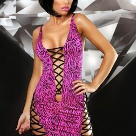 schwarz pinkes Minikleid Zebra von Lolitta Dessous
