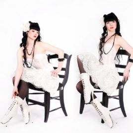 Lack Ballett Stiefeletten High Heels weiß Unisex