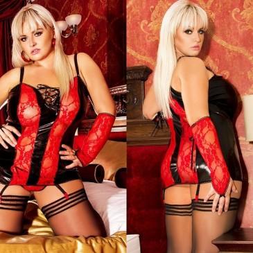 schwarz/rote Corsage Naughty Roxy von Andalea Dessous