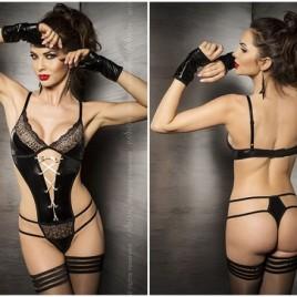 schwarzer String-Body Agawa von Passion Dessous