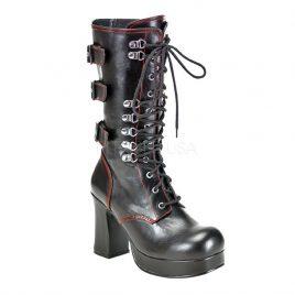 Demonia Gothika-101 – Gothic Steampunk Plateau Stiefel Schuhe 36-43