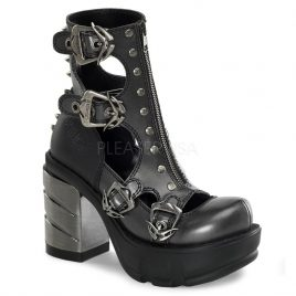 Demonia Sinister-61 – Gothic Industrial Metall High Heels Schuhe 36-43