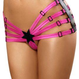 schwarz/pinker Star Panty von Lolitta